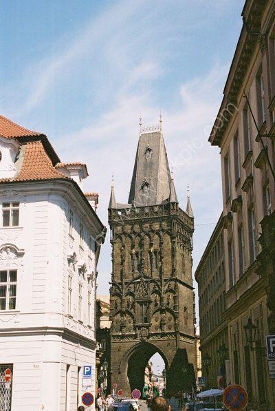View of Powder Gate, Old Town, Prague