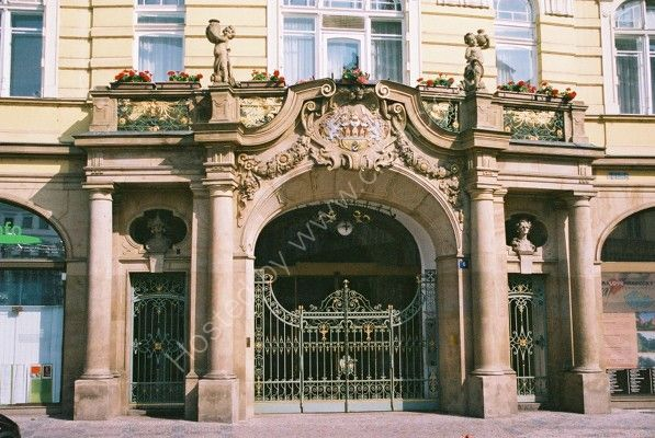 Entrance to Ministry of Development, Old Town Square, Prague