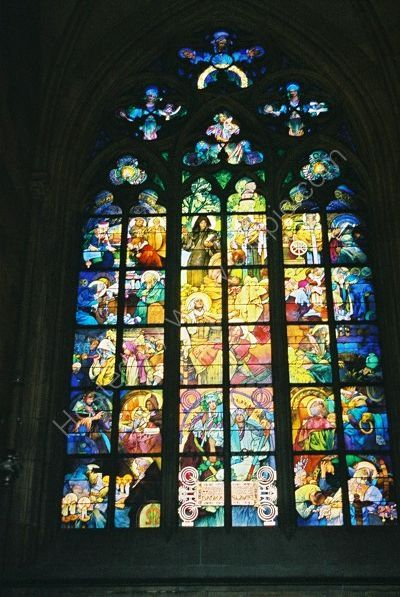 Stained Glass Window, St Vitus's Catherdral, Prague Castle