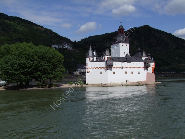Island Castle in Rhine River