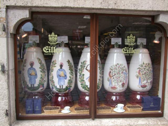 Old Storage Jars in Coffee & Tea Shop, Rothenburg