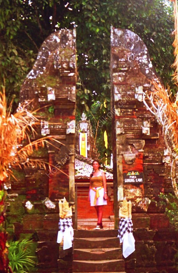 Entrance to Bathing Area, Temple in Mountains, Bali
