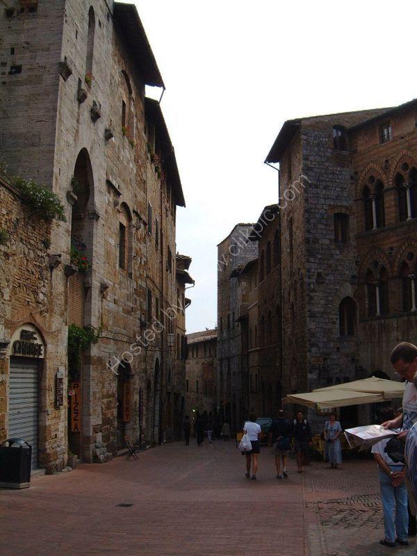 Street, San Gimignano, Tuscany