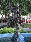 Bronze Fountain, Park, Santa Clara