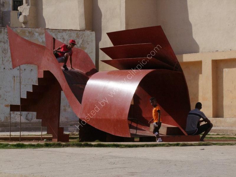 Childrens Playground Slide, Malecon, Havana