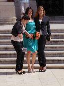 Sicilian Ladies Wedding Photograph, Piazza Duomo, Ortygia Island, Syracusa