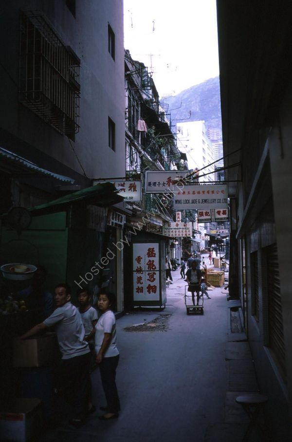 Side Street off Des Voeux Road, Hong Kong Island