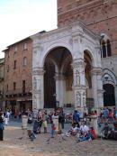 Entrance to Loggia della Mercanzia, Sienna, Tuscany