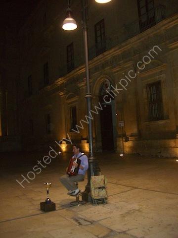 Accordionist, Piazza Duomo, Ortygia Island, Syracusa