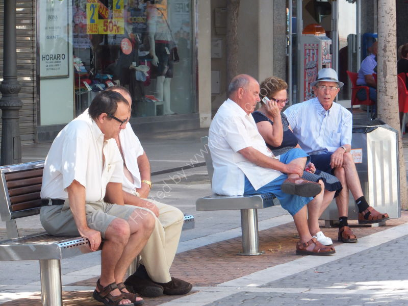 Spaniards taking the shade, Estepona