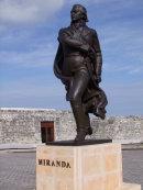 Bronze of Venezuelan Miranda, Malecon, Havana