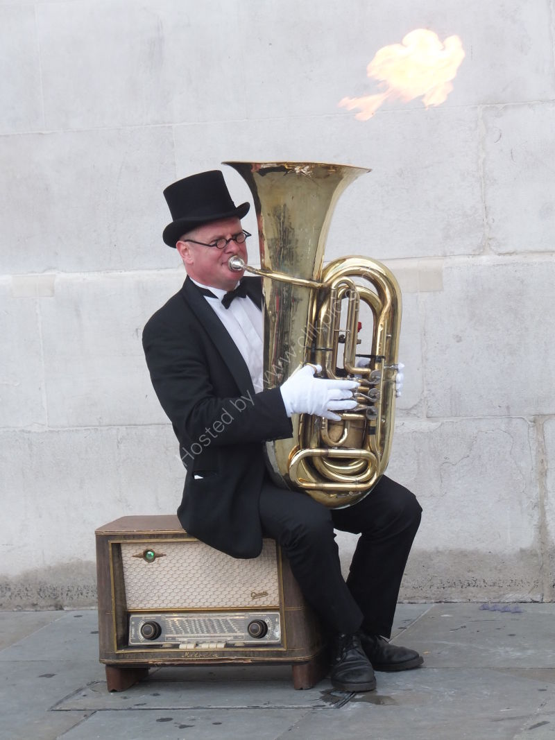 Street Performer on Fire!