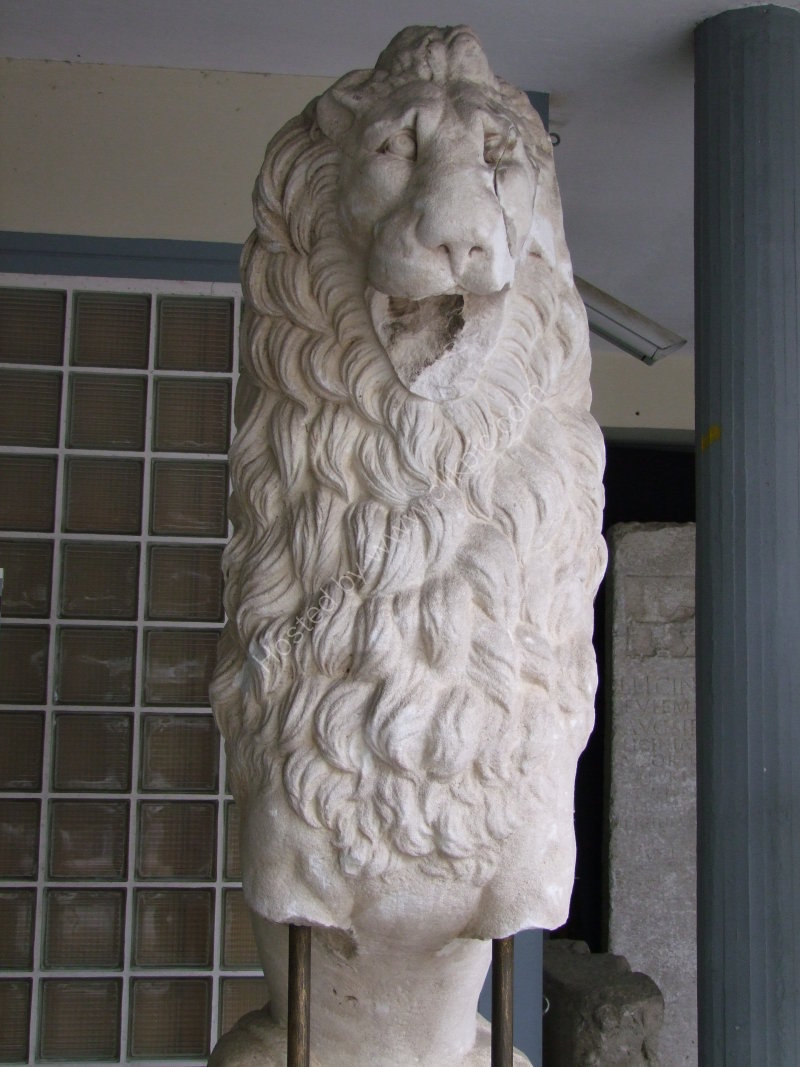 Carved Marble Lion Head & Mane, Archaeological Museum, Thessalonica