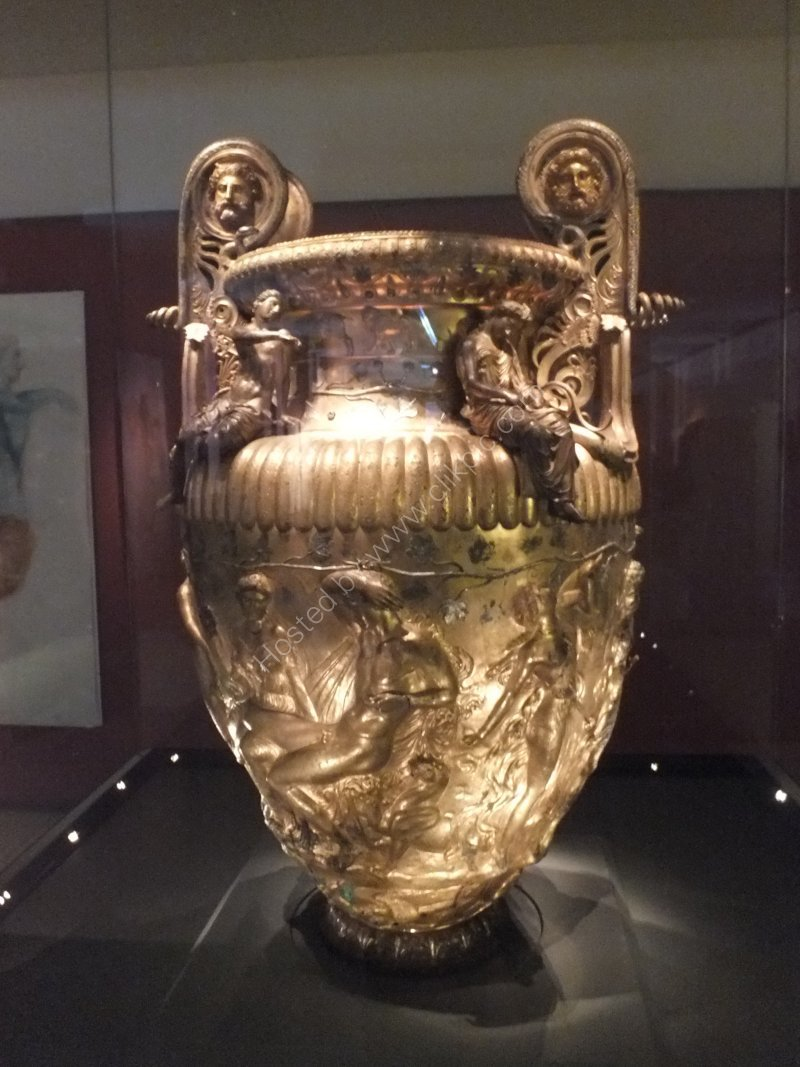 Silver & Gold Wine Vessel, Archaeological Museum, Thessalonica