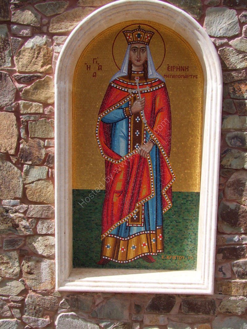 Mosaic at Tomb of Archbishop Makarios III, Troodos Mountains