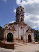 Church destroyed by two hurricanes, Trinidad