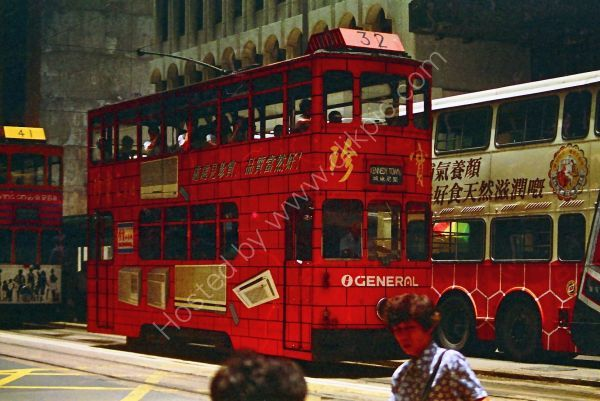 Double Decker Trolley Buses, Central, Hong Kong Island