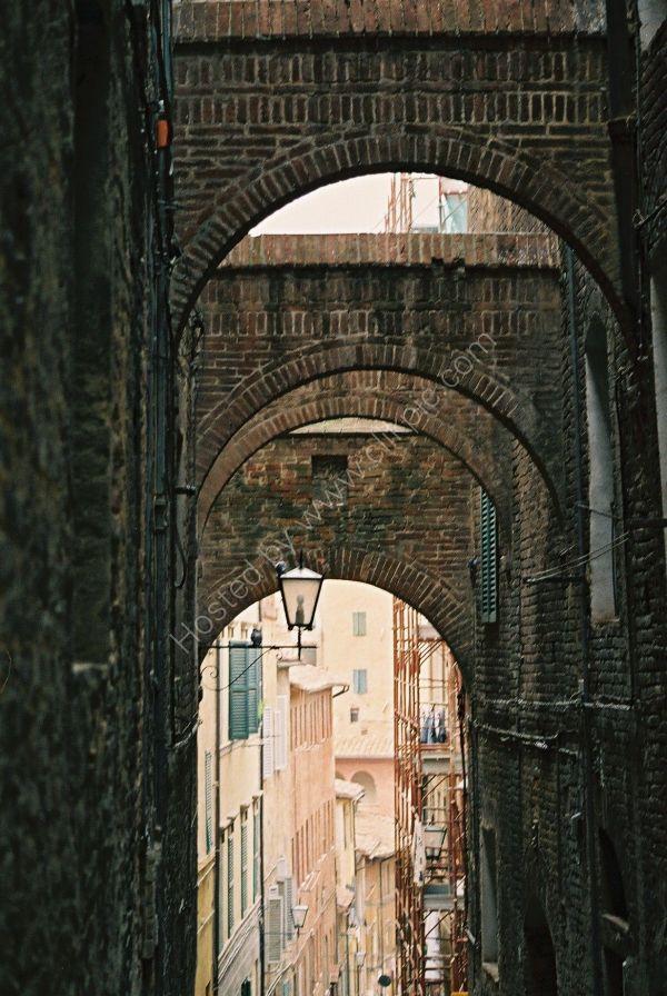 Side Street, Sienna, Tuscany