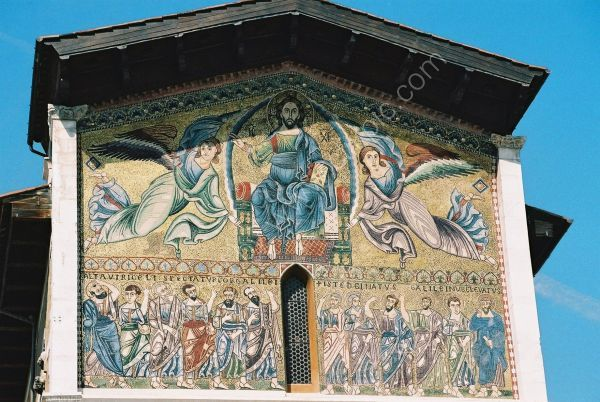 Detail of Church, Lucca, Tuscany