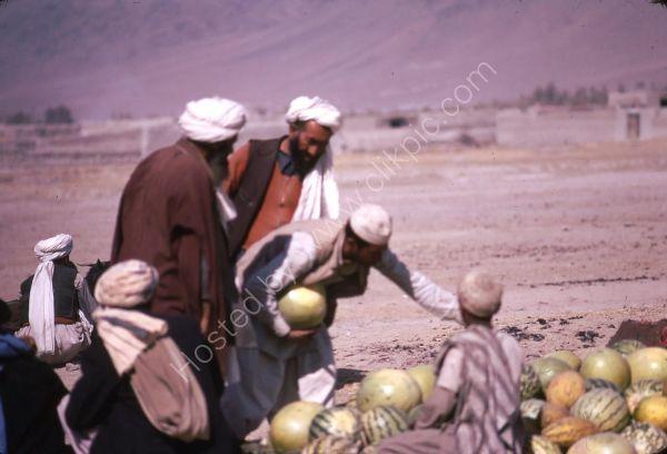 Afghani Melon Seller, Camel Market, Kabul