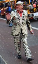 Pearly King, New Year Parade 2007, London