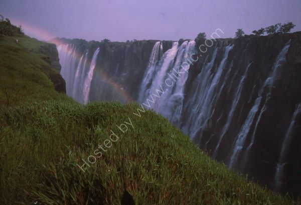 Rainbow at Victoria Falls, Livingstone