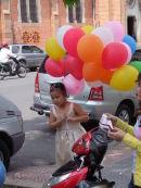 Vietnamese Girl with Balloons