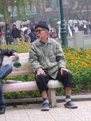 Vietnamese Old Man in Park