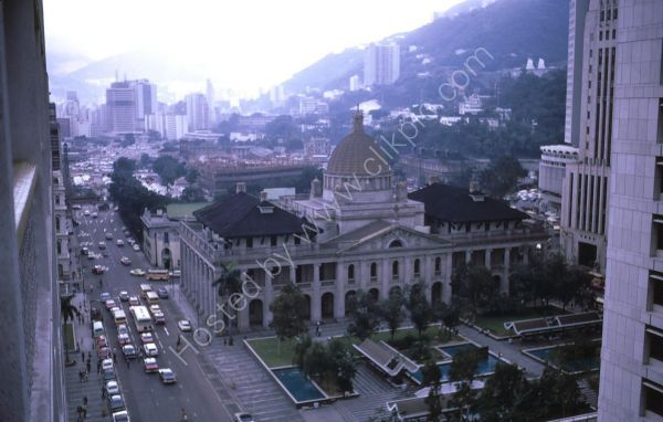 View of Government Building & Cenetaph from Manadrin Oriental Hotel, Central, Hong Kong Island