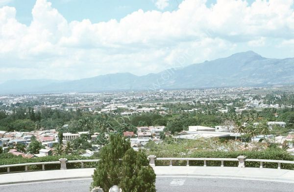 View from Statue of Justice, Santiago