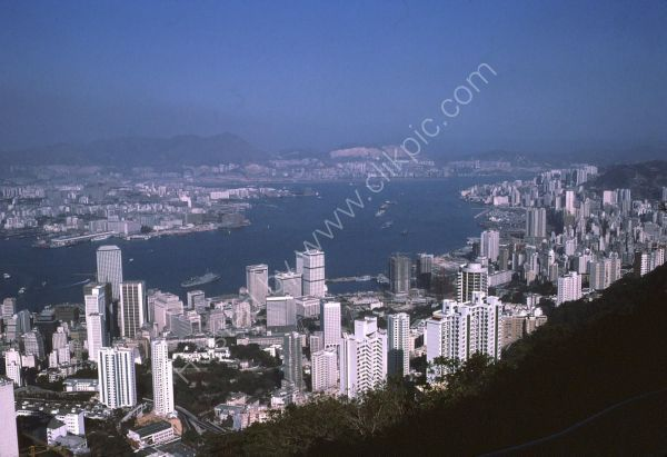 View of Hong Kong Island & Kowloon