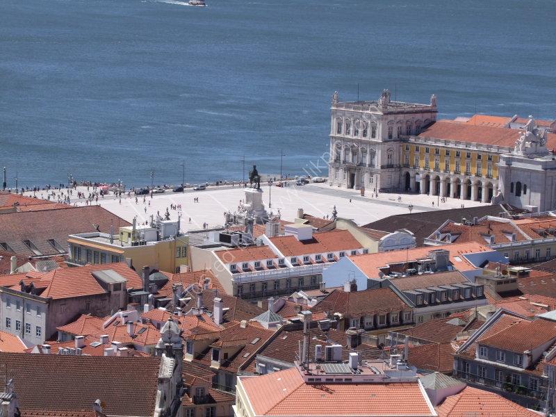 View of Praca do Comercio & River Tejo