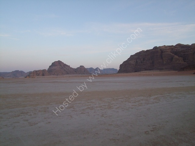 sunset over Wadi Rum, Petra