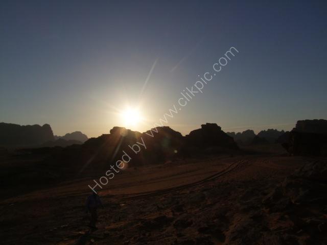 Sunset over Wadi Rum, Petra