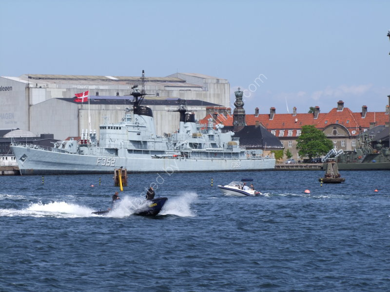 Docked Danish Warship