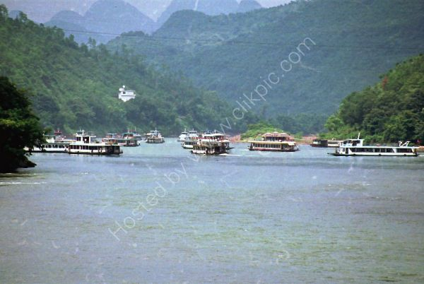 Boats in Yangshou Harbour