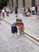 Cuban Children chasing Pidgeons, Havana