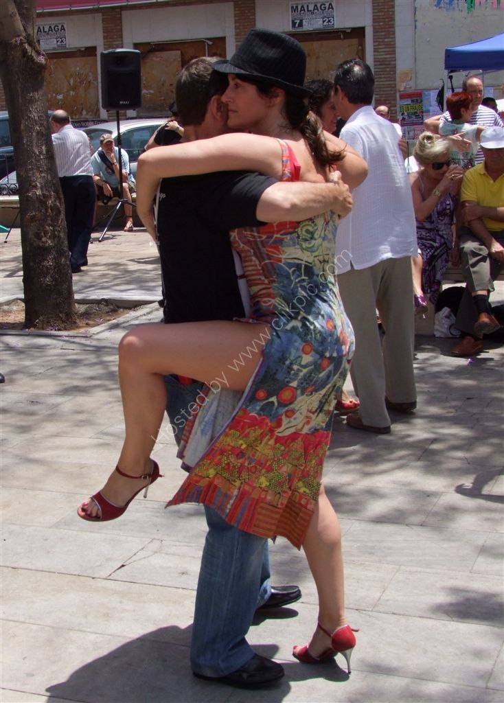 Saturday afternoon Tango! Plaza de la Merced, Malaga