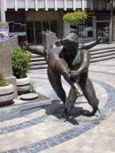 Bronze Sculpture, Market, Malaga, Spain