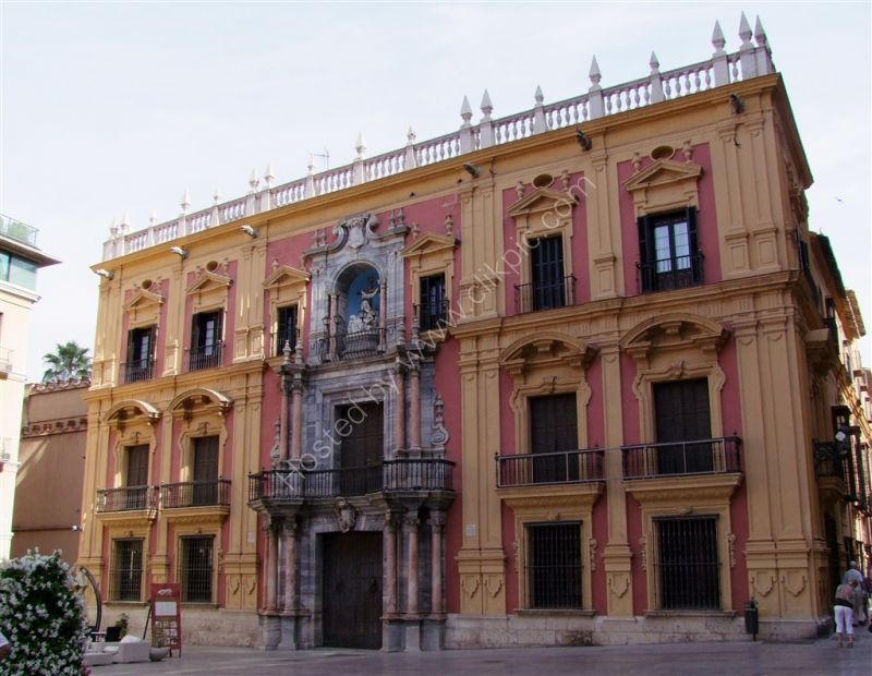 Building near to the Cathedral, Malaga, Spain