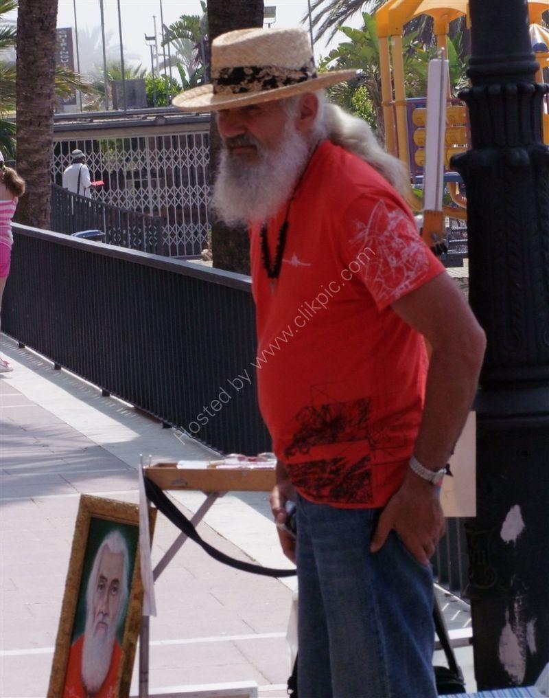 Artist & Self Portrait, Avenida Duque de Ahumada, Marbella