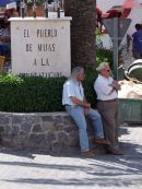 """Two Spaniards having a """"chin wag"""" in the shade!, Mijas"""