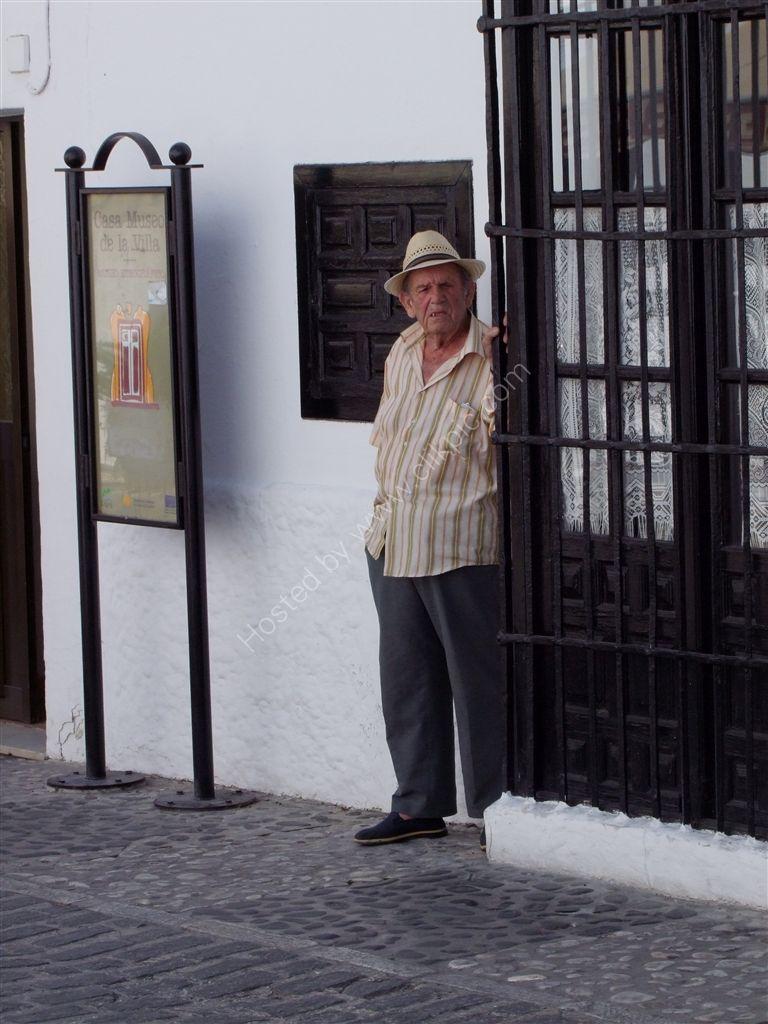 Spaniard taking the shade, Mijas