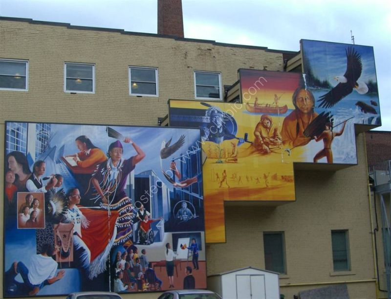 Mural of Canadian Indians, Front Street East, Toronto
