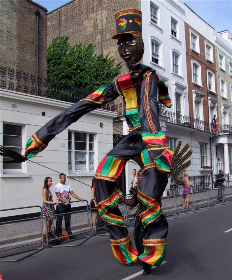 Walking Tall! Nottinghill Carnival 2009