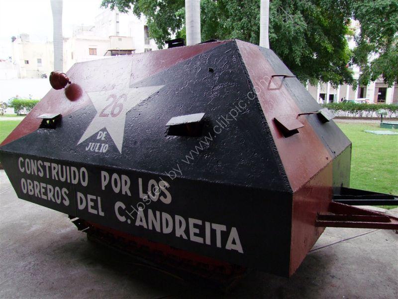 Homemade Tank, Revolution Museum, Havana
