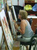 Student Artist at Work, Torremolinos
