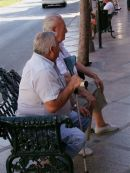 Spaniard taking a break in the shade, Torremolinos