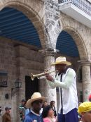Trumpeter, Cathedral Square, Havana