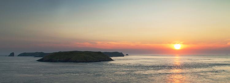 Skomer Sunset - Martins Haven